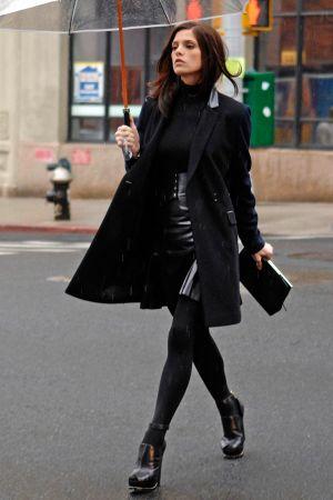 Ashley Greene during a photo shoot for DKNY in NY