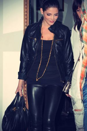 Ashley Greene leaves a Restaurant after dinner