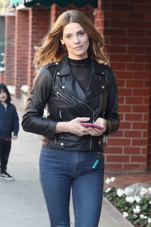 Ashley Greene out at Judi's Deli