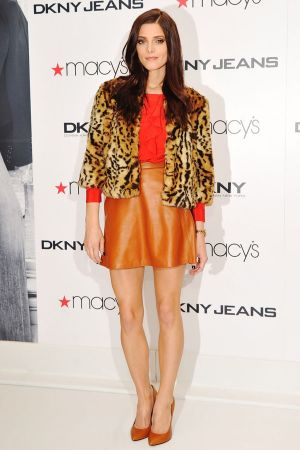 Ashley Greene promoting DKNY at Macy's Herald Square in NYC
