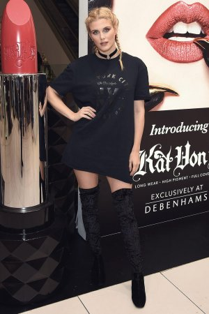 Ashley James attends the launch of Kat Von D Beauty