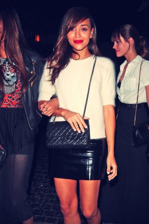 Ashley Madekwe and Christa B. Allen At Chateau Marmont