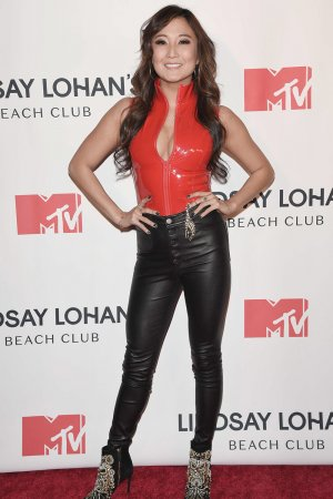 Ashley Park attends MTVs Lindsay Lohan's Beach Club Premiere Party