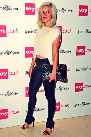 Ashley Roberts arrives at Fearne Cotton's SS14 fashion collection