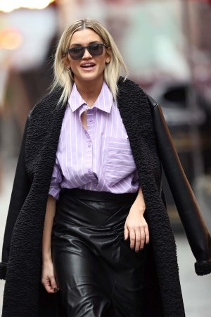 Ashley Roberts seen at Heart Radio Studios in London