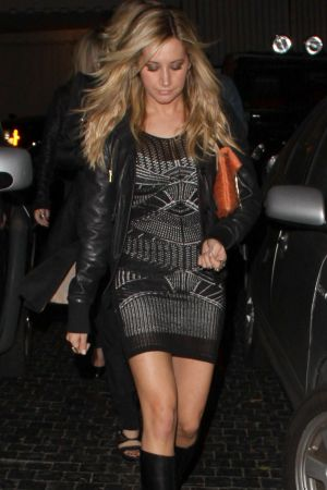 Ashley Tisdale at Chateau Marmont on the long journey to Bar Marmont in LA