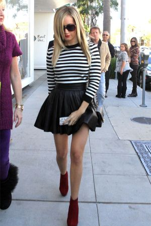 Ashley Tisdale at  Christmas shopping in Beverly Hills