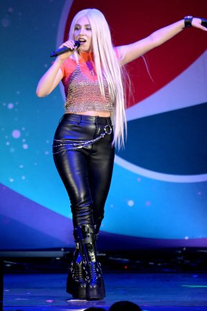 Ava Max attends B96 Pepsi Summer Bash 2019