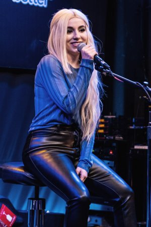 Ava Max performs at the Bloodworks Live Studios
