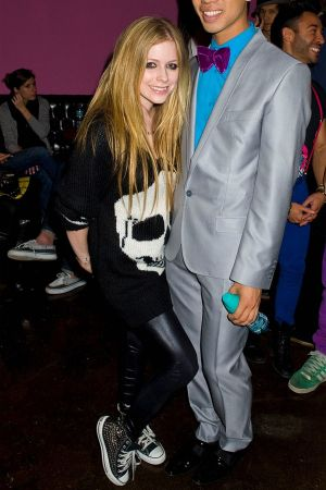 Avril Lavigne at Just Jared 30th birthday bash held at Pink Taco Sunset Strip
