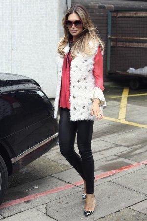 Ayda Field seen leaving the ITV Studios