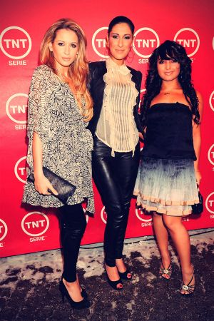 Bahar Kizil, Senna Guemmour and Mandy Carpristo at TNT Channel Launch