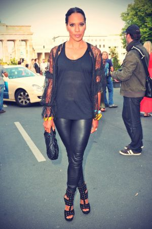 Barbara Becker attends Grazia Modenschau am Vorabend der Mercedes-Benz Fashion Week