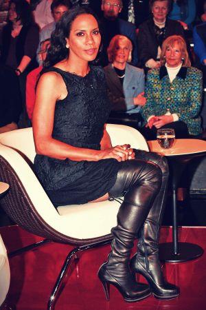 Barbara Becker guest of the ZDF