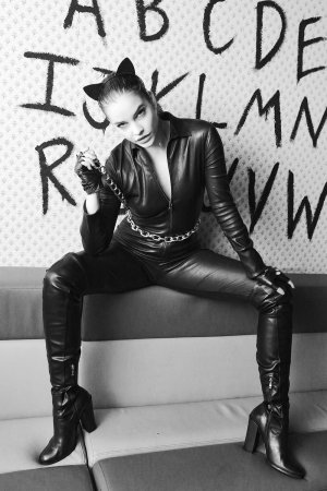 Barbara Palvin dressed as Catwoman at The Upside Down Club