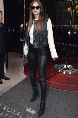 Barbara Palvin out in Paris