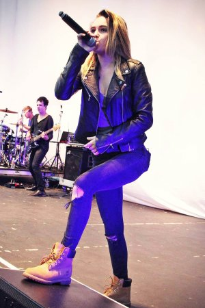 Beatrice Miller performs on Stage at Orange County Fair
