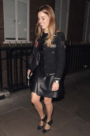 Beatrice of York leaving Soho House
