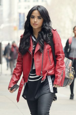 Becky G out and about in a cold day in NYC