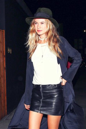 Behati Prinsloo heading inside The Nice Guy