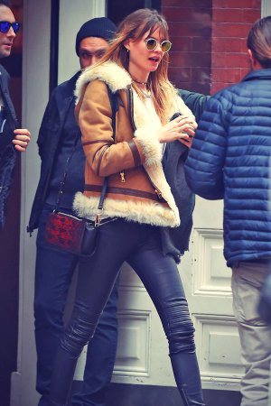 Behati Prinsloo out and about in NYC