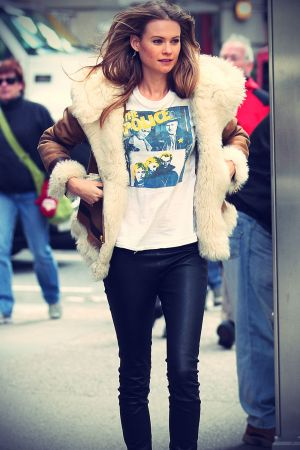 Behati Prinsloo out in NYC