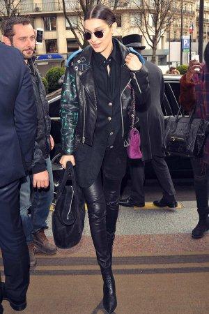 Bella Hadid arrives at the George V Hotel