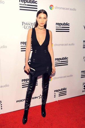 Bella Hadid arrives at the Republic Records Party