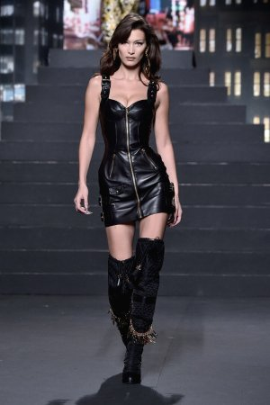 Bella Hadid attends Moschino X H&M Fashion Show
