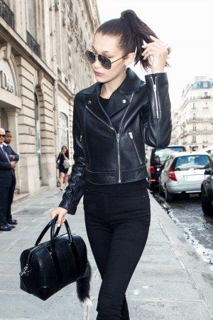 Bella Hadid leaving her hotel