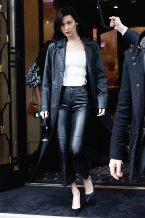 Bella Hadid leaving her hotel