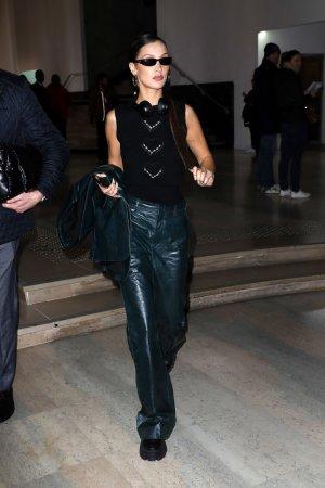 Bella Hadid leaving Mugler Fashion Show