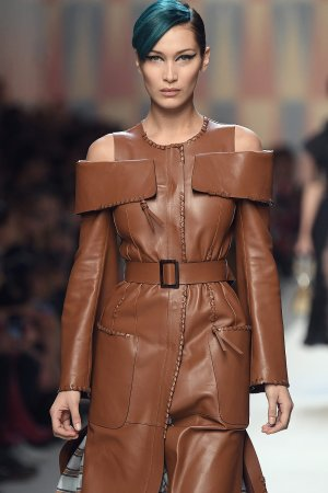 Bella Hadid runway at Fendi Fashion Show