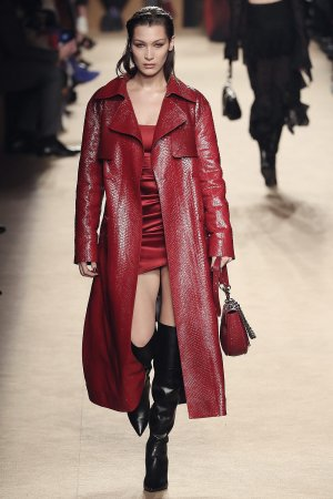 Bella Hadid Leather Coat Leather Celebrities