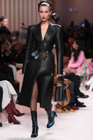 Bella Hadid walks the runway at Fendi fashion show