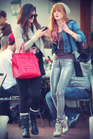 Bella Thorne and Kylie Jenner out and about candids