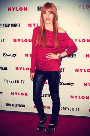 Bella Thorne attended the celebration of Nylon Magazine