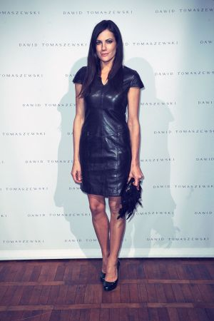 Bettina Zimmermann attends Mercedes Benz Fashion Week