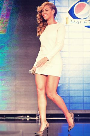 Beyonce Knowles at Super Bowl press conference