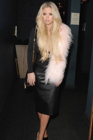 Bianca Gascoigne leaving DSTRKT nightclub
