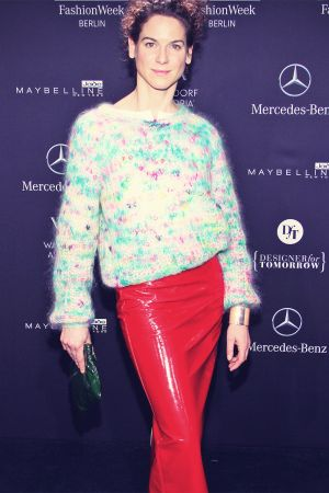 Bibiana Beglau attends Mercedes-Benz Fashion Week
