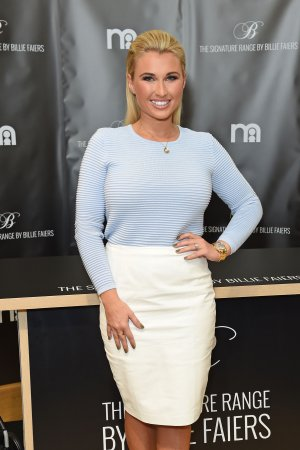Billie Faiers attends Photocall launching her pushchair range