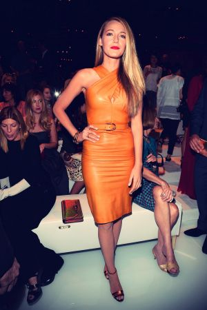 Blake Lively Gucci Spring Summer 2014 show