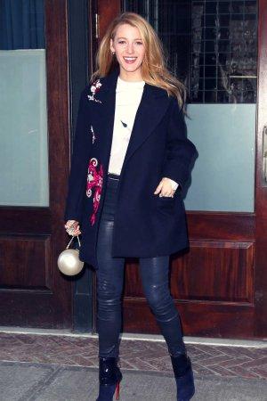 Blake Lively leaving her hotel in New York City