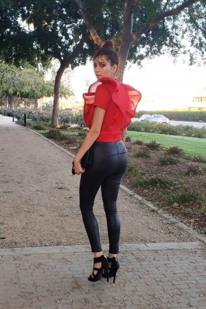 Blanca Blanco seen in a park in LA