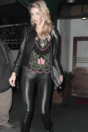 Brandi Glanville at Madeo restaurant Hollywood