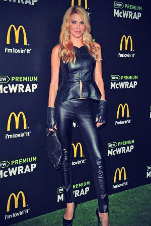 Brandi Glanville attends the launch of McDonald's Premium McWrap