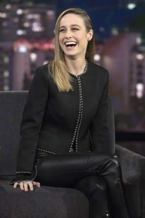 Brie Larson at Jimmy Kimmel Live