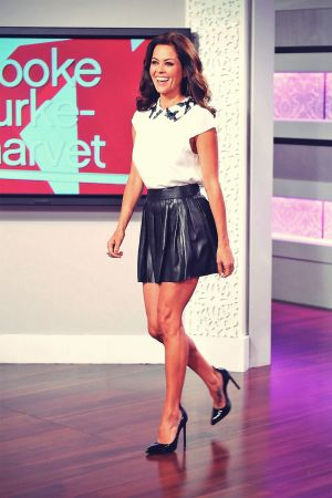 Brooke Burke co-hosts an episode of the Summer talk show KRIS