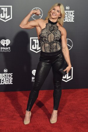 Brooke Ence attends Justice League film premiere